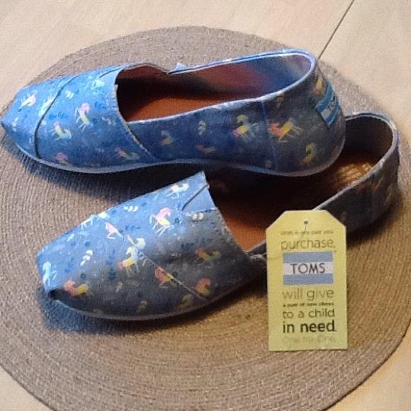 TOMS unicorn shoes NEW
